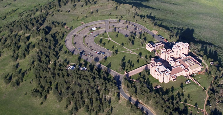 Aerial view of NCAR Mesa Lab