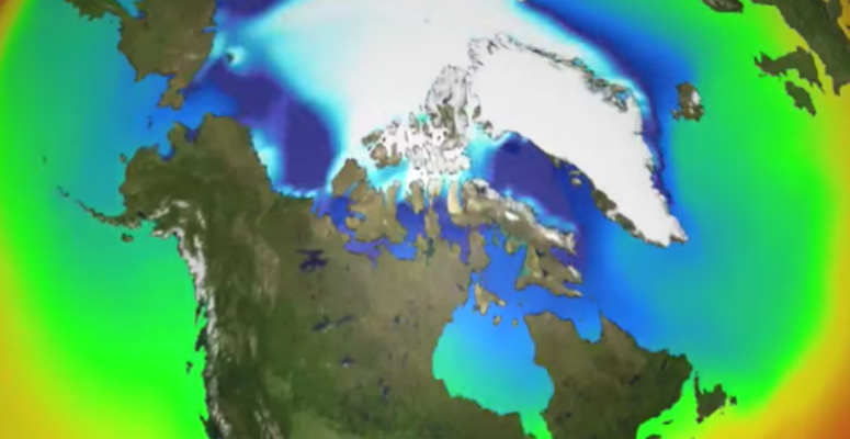 CESM simulation of Arctic sea ice