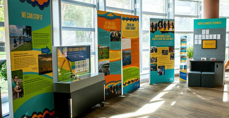 NCAR Traveling Climate Exhibit installed in the Boulder Library