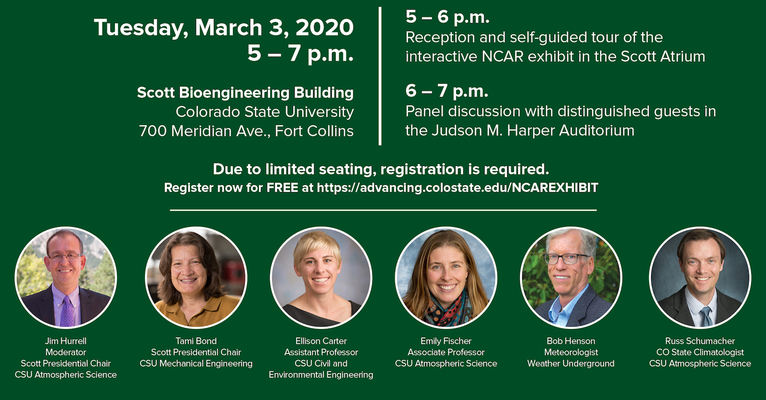 Information for the CSU Climate Panel event