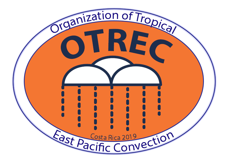 Logo of the OTREC field campaign. A cloud with rain droplets coming down.