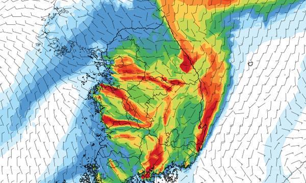 An ACOM forecast map for Korea