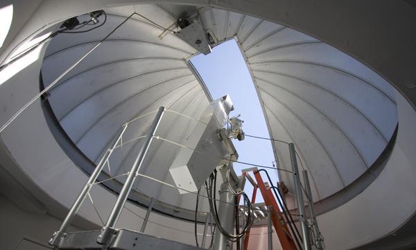 Inside the smaller MLSO dome