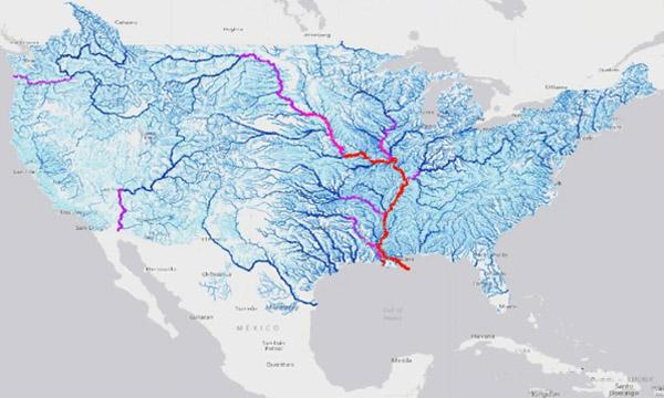 An streamflow forecast from the National Water Model