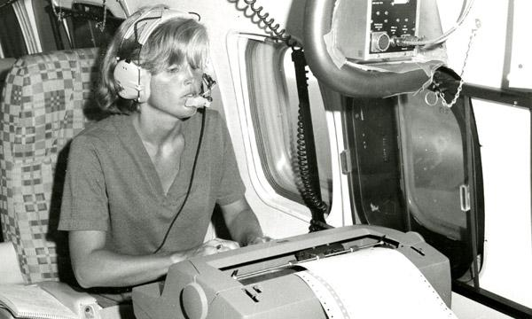 Donna Johnson on a GATE research aircraft