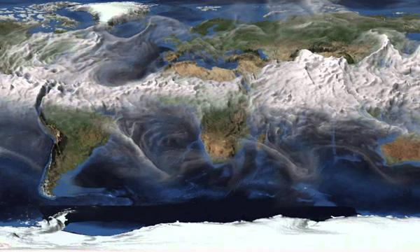 A climate model visualization created by CISL