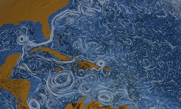 Ocean currents visualization by NASA