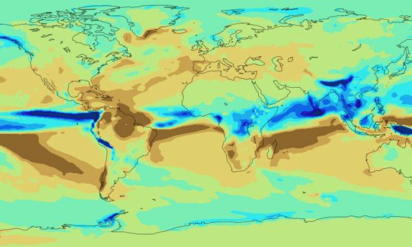 A visualization of precipitation trends from 2050-2080