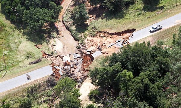 FEMA image of a washed-out bridge