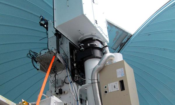An image of the K-Cor instrument inside the dome at Mauna Loa