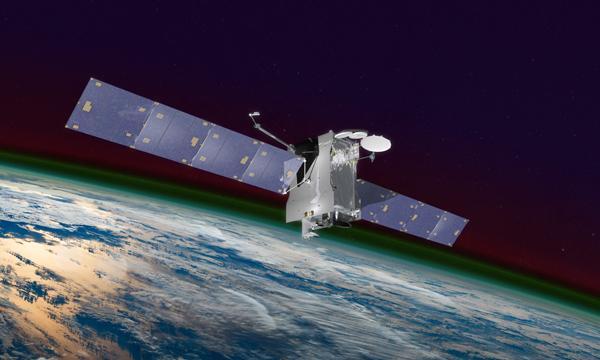 An artist's rendering of the NASA GOLD satellite