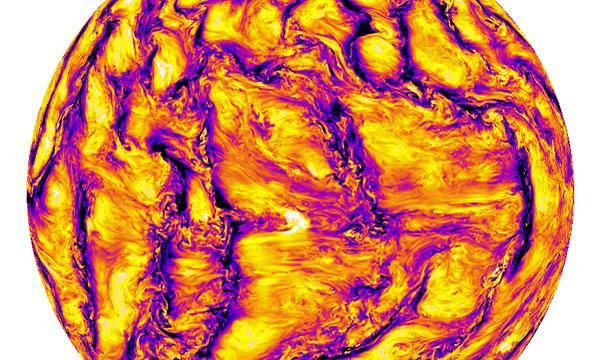 Image from a super-resolution solar model