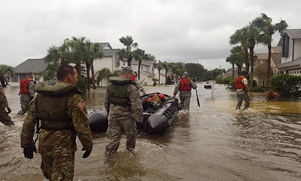 The Florida National Guard assists in a rescue