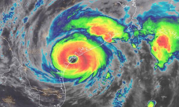 An IR image of Hurricane Harvey