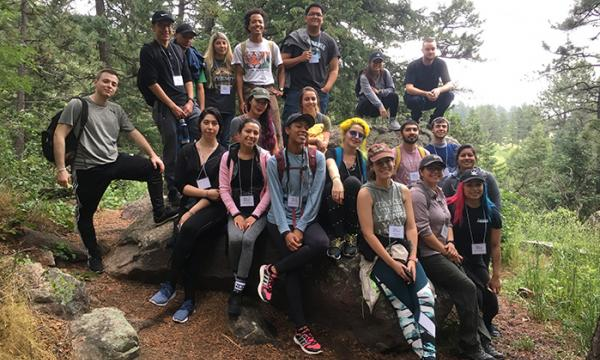 REU cohort out on a hike