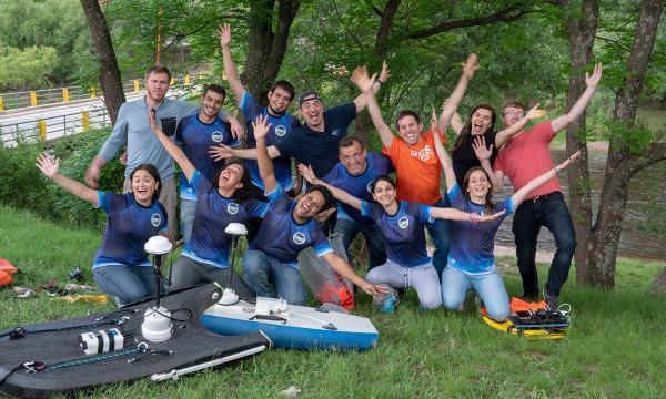 El equipo de hidrometerología durante el proyecto de campo RELÁMPAGO